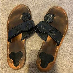 Black jack rogers sandals. Size 8